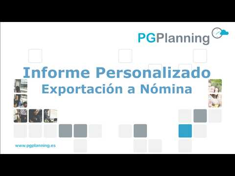 Exportacion de datos a nómina con el informe personalizado