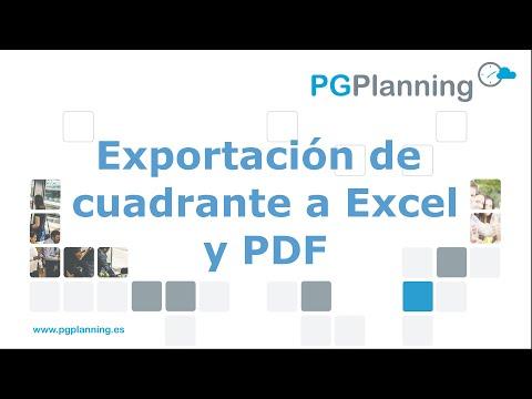 Cómo exportar cuadrantes a Excel, CSV, PDF e ICS (Outlook / Google Calendar)