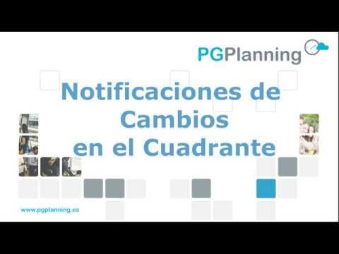 Gestión de notificaciones de cambios en el cuadrante