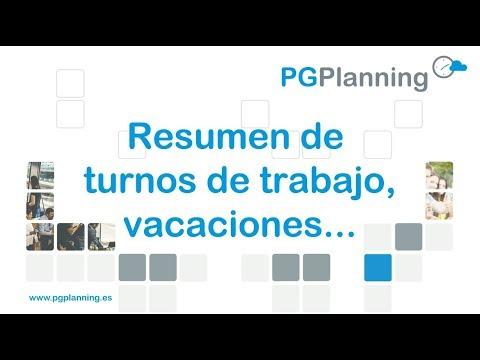 Resumen de turnos de trabajo, vacaciones, fichajes... en el portal del empleado