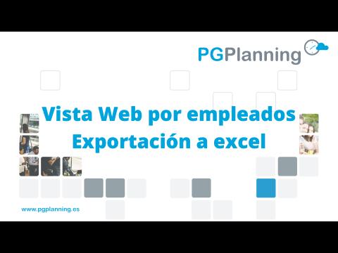 Vista Web del cuadrante y exportación a Excel